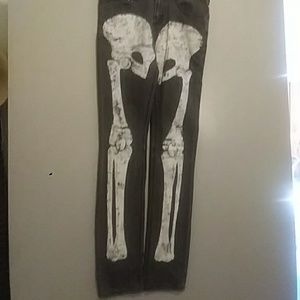 Hand-painted Skeleton Jeans